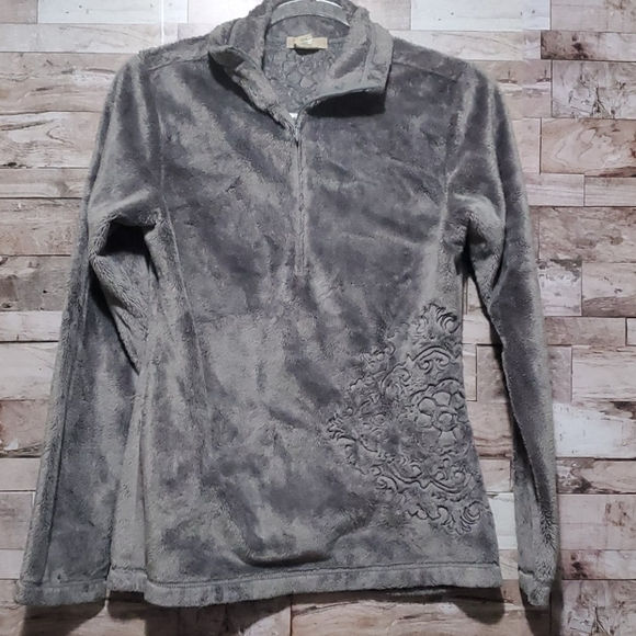 Best In Suits Ascend Grey Plush Pull Over Sweater